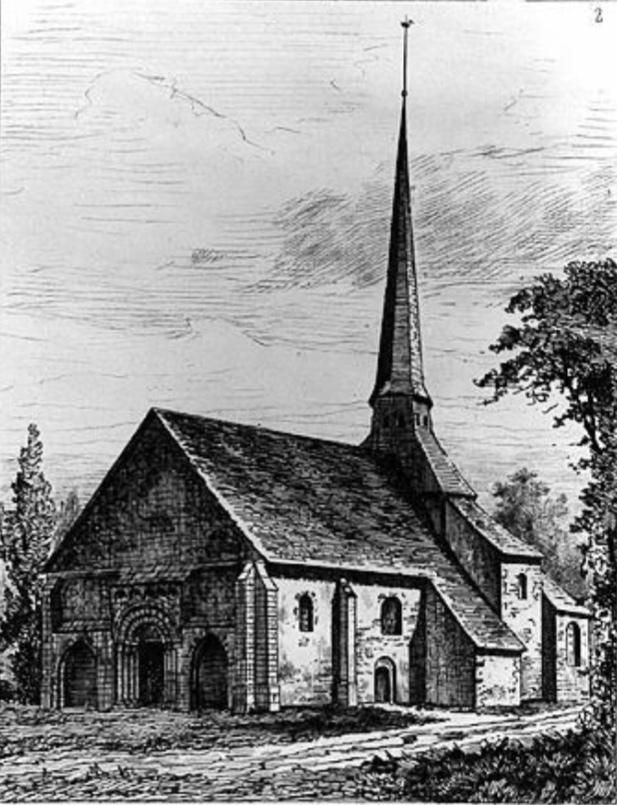 1.1 - Saint Julien - Gravure de la fin du XIX ème siècle d'après Buhot de Kersers